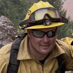 Firefighter in wildland gear